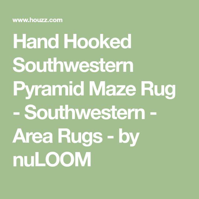 Hand Hooked Southwestern Pyramid Maze Rug - Southwestern - Area Rugs - by nuLOOM