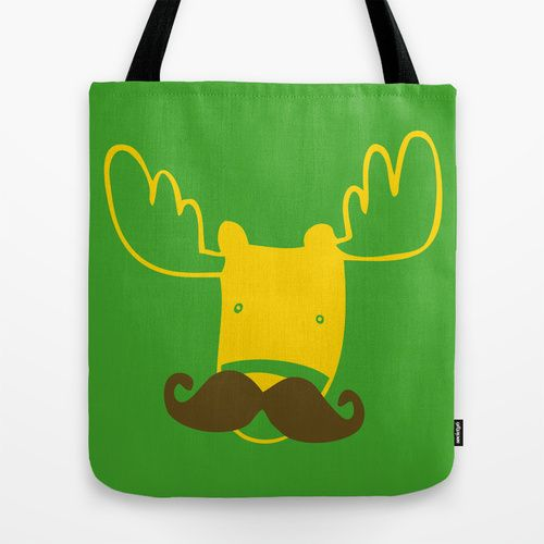 moosetache Tote Bag. Tee and Toast now on Society6
