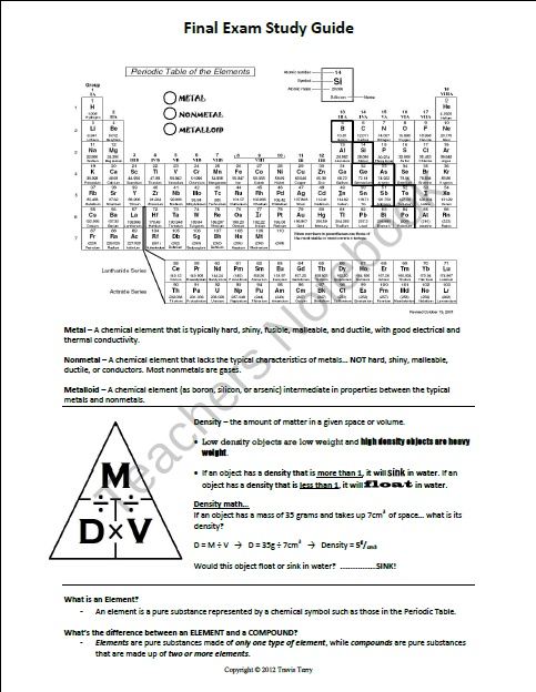 study sheet for final exam 1302 Chem 1062: reviewing for the american chemical society (acs) standardized final exam  because the exam covers what you know and understand, the best way to review and study for the exam.