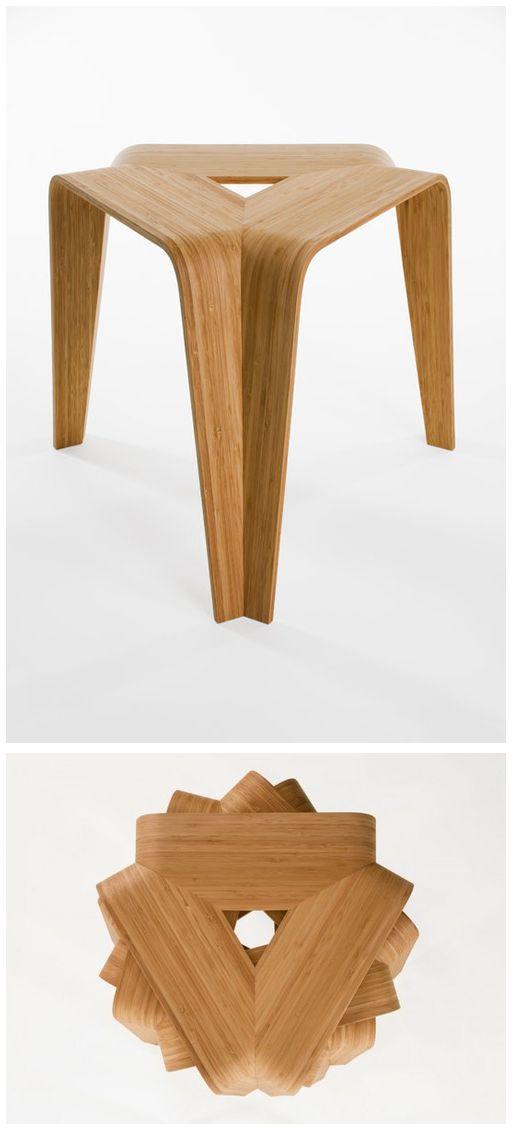 Bamboo stool by Artek