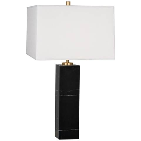 Jonathan Adler Canaan Marble and White Shade Large Table Lamp - #1N968 | Lamps Plus