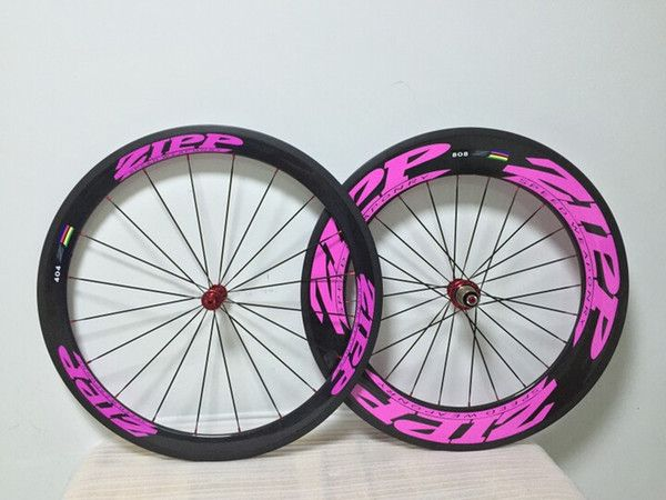 Online Shopping Pink ZIPP 404 50mm+808 88mm clincher Carbon Fiber Bicycle road bike wheels 669.36 | m.dhgate.com