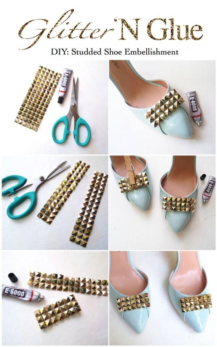 DIY Studded Shoe Embellishments Via Glitter N Glue Glitternglue