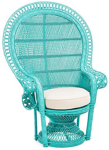 One Kings Lane Pea Accent Chair Turquoise
