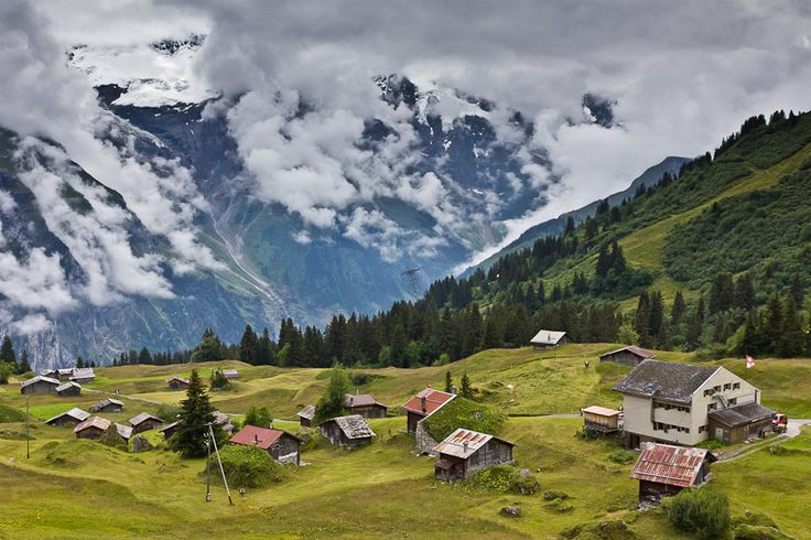 high in the swiss alps photo