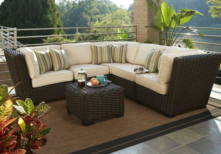 This Outdoor Wicker Sectional Is Convertible To Various
