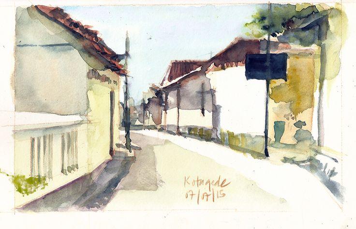 Kotagede Yogyakarta - watercolor