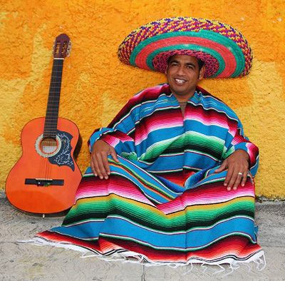 Man in national Mexican clothing. Photo from Globerove.com