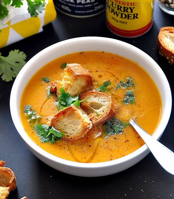 [Recipe] Sweet Potato & Chickpea Soup, Vegan Friendly & Dairy Free | www.fussfrecooking.com by fussfreecooking, via Flickr