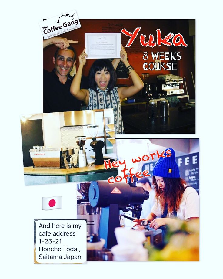 """It all started back in 2013 with the 8 weeks coffee course when Yuka decided to find work in sydney before heading back to Japan, working for a local Tokyo cafe and to today, running her own cafe. Barista dreams can and do happen. Belief, persistence and patience help you get there. I'm so proud of this lady. Much love Yuka. 😍 You are one of my best. She is definitely part of the Gang. """"Are you part of the GANG yet?"""" #thecoffeegang #heyworks #heyworkscoffee #coffeeworld"""