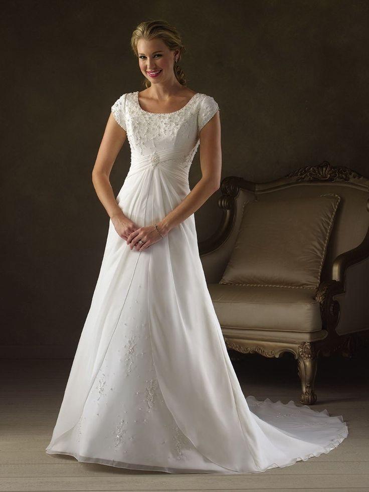 25 best ideas about sequin wedding dresses on pinterest for Elegant modest wedding dresses