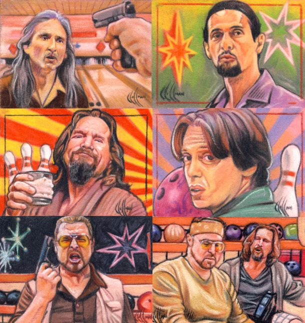 Big Lebowski sketch cards by choffman36 on DeviantArt