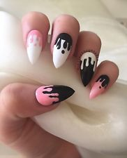 Halloween Stiletto Blood Drip Kylie Jenner Style False Nails