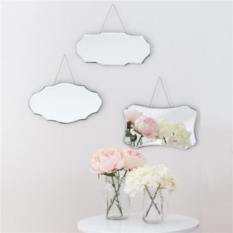Set of 3 Classic Mirrors
