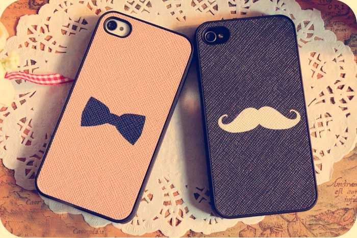Moustache / Bowtie iPhone 4/4S or Samsung i9220