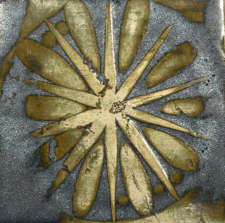 Handmade Ceramic Decorative Tile - Wind Rose Atlantis by DeKa Ceramic Tiles