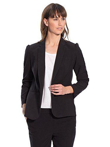 Balsamik – Blazer mit Reverskragen, normale Oberweite – Damen – Size : 48 – Colour : Schwarz   http://xxl.damenfashion.net/shop/balsamik-blazer-mit-reverskragen-normale-oberweite-damen-size-48-colour-schwarz/
