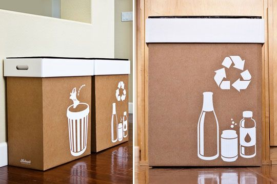 Pop-up Trash Bins.  So clever we definitely need them for our apartment parties.