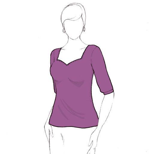 Patron de couture de top tee-shirt tshirt Badiane pdf GRATUIT à télécharger de christelle Beneytout à coudre à la surjeteuse