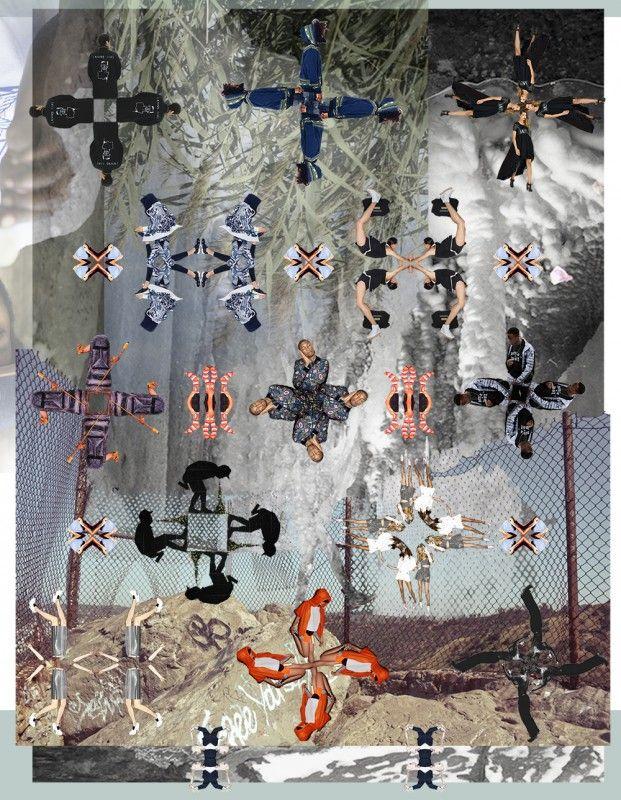 """collage for THRLD october recap Caleidoscopen """"Ik heb een voorliefde voor caleidoscopen. Vormen gecreëerd door het herhalen van andere vormen en onderwerpen. Ietwat raar en oneindig. Je kan er zo veel mee, een vorm wordt een totaal ander iets door de herhaling en spiegeling ervan. Je kan oneindig doorgaan met het creëren van nieuwe vormen en combinaties, is dat niet heerlijk? Ik heb me deze keer laten inspireren door de straten van London waar ik mij afgelopen week bevond. Een enorme stad…"""