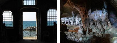 """The famous and enchanting cave-church """"Chiesetta di Piedigrotta"""" near Pizzo - visit it with Calabria Sport Fishing!"""
