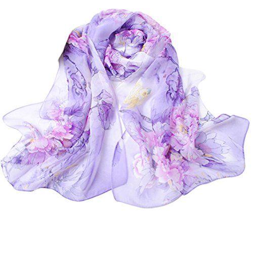 From 1.12 Webla Fashion Chinese Style Lady Long Wrap Women's Shawl Chiffon Scarf (purple)