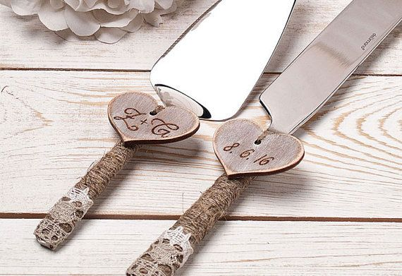 Personalized Cake Serving Set Cake Server by InesesWeddingGallery
