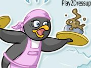 Free Online Girl Games, This penguin has just opened a diner and she needs your help with the customers!  Help seat, serve and clean up after the penguin customers.  Don't forget to collect your money after you finish!, #animal #restaurant #cooking #fun #kid