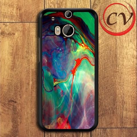 Abstract HTC One M8 Black Case