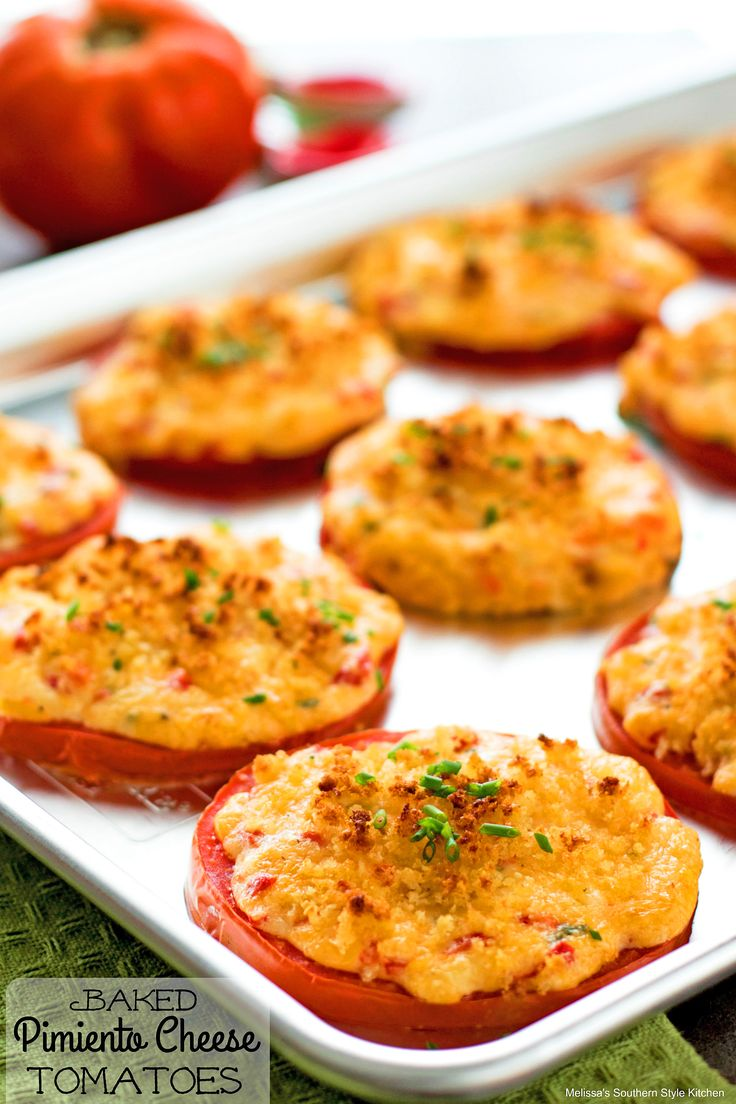 These Baked Pimiento Cheese Tomatoes are a Southern twist on roasted tomatoes. Thick slices of meaty beefsteak tomatoes are topped with homemade pimiento cheese aka Southern pâté, that's made with sharp cheddar cheese, diced pimientos, mayonnaise, fresh chives and seasoned to perfection. They're then sprinkled with a buttery panko breadcrumb topping and baked until the...Read More »