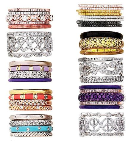 Hidalgo enamel stackable rings.  www.hidalgojewelry.com  They have so so many and they are gorgeous! Must have!
