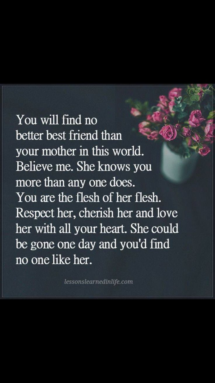 There will never be anyone like Mom!