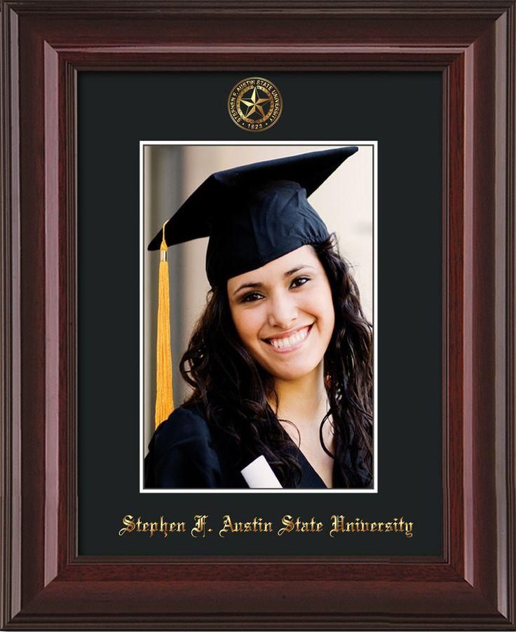 Stephen F Austin State 5 x 7 Mahog Lacquer photo frame w/black mat. – Professional Framing Company