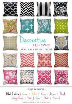 Decorative pillows, Dorm and Decor on Pinterest