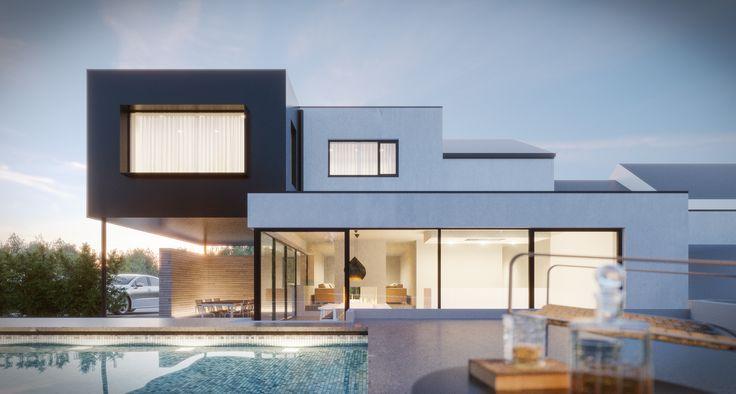 Maison unifamiliale. Architecte: Pierre Abraham. Image: www.perspectif.be