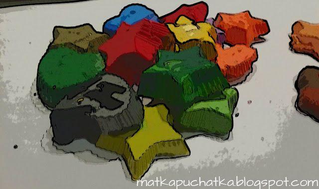 Matka Puchatka: Domowy recykling, czyli jak zrobić kształtne kredk...