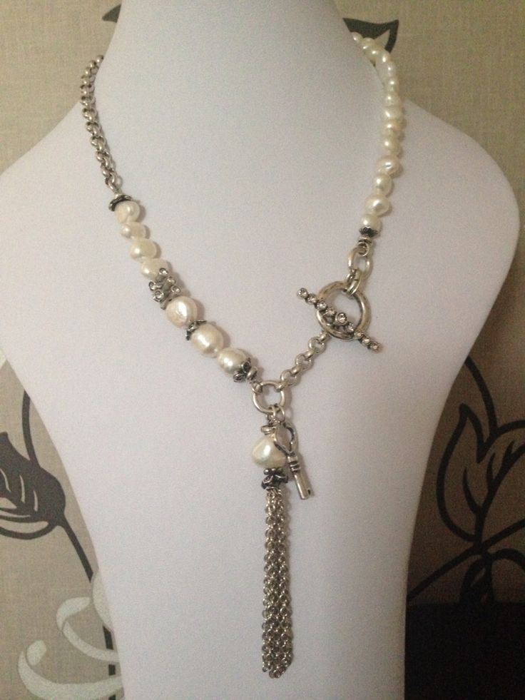 Love this new freshwater pearl and crystal necklace from Isidora collection from Miglio.
