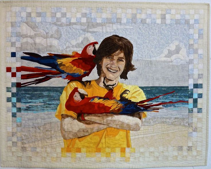Mitchell's Awesome Mexican Adventure - a portrait quilt by Faith McLeod