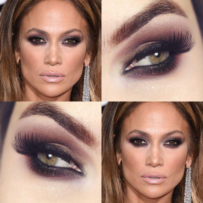 Tutorial – maquiagem inspirada em Jennifer Lopez - esfumado vinho / berinjela