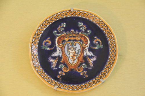 Assiette murale gien renaissance fa ence de gien bleue for Faience murale ancienne