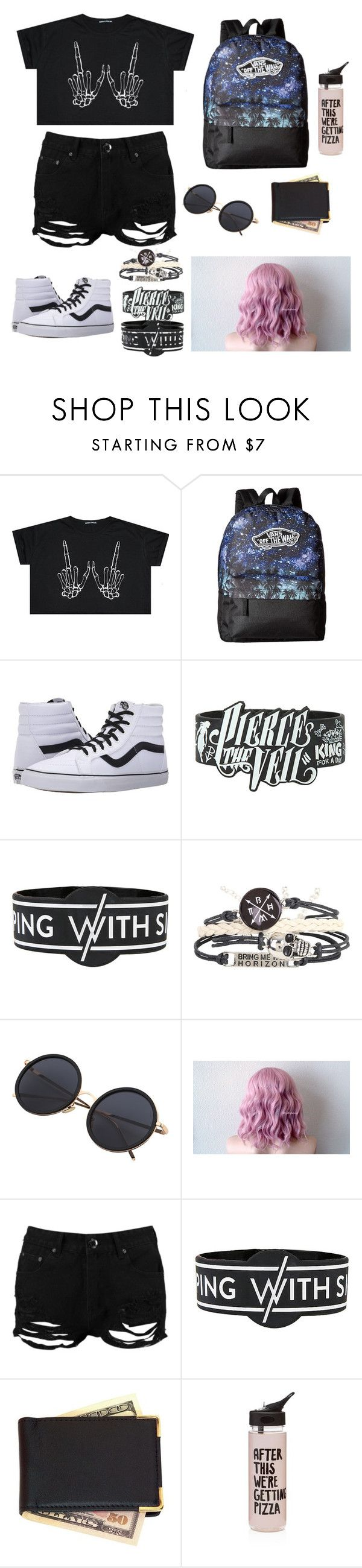 """Warped Tour 2017"" by skellydun ❤ liked on Polyvore featuring Vans, Boohoo, Royce Leather and ban.do"