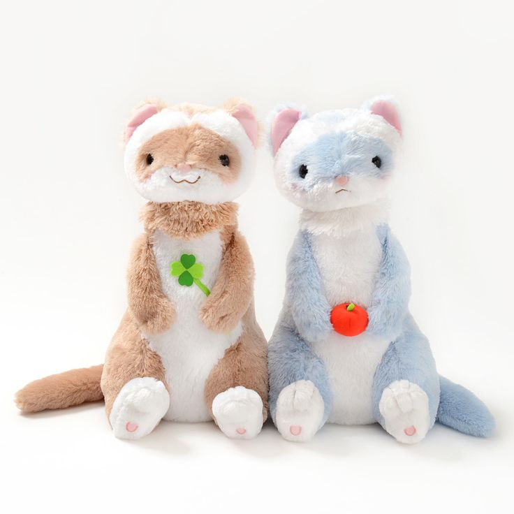 """Ferrets are *ridiculously* cute, but they're so busy and independent that you don't really get to enjoy sitting down and enjoying quality time with your ferret! (Instead, they're probably off hiding something.) But with one of these **big Ferret Mori no Feru Plushies,** you'll get all of the ferret cuddles you can stand!   At an approximate size of **15.7"""" by 11.8"""" by 11.8"""",** the lineup include... #plushie"""
