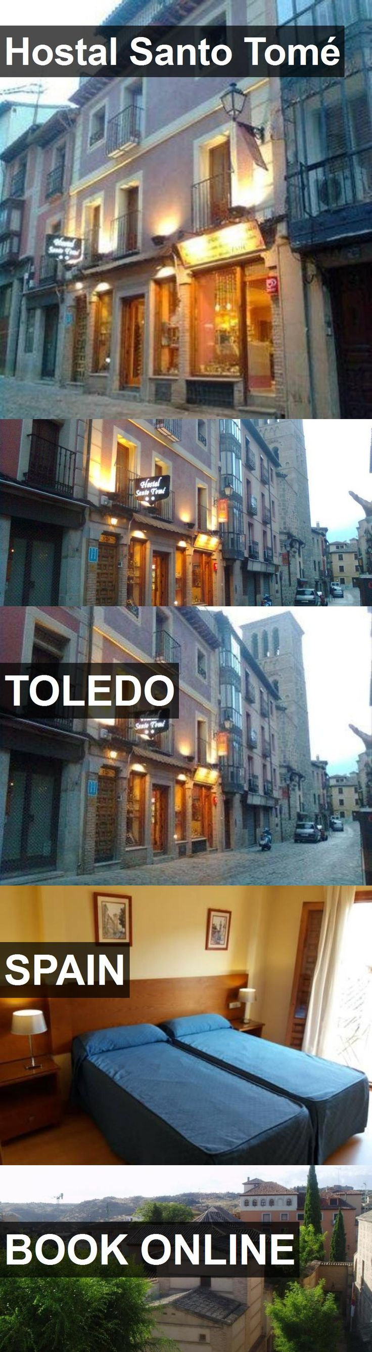 Hotel Hostal Santo Tomé in Toledo, Spain. For more information, photos, reviews and best prices please follow the link. #Spain #Toledo #travel #vacation #hotel