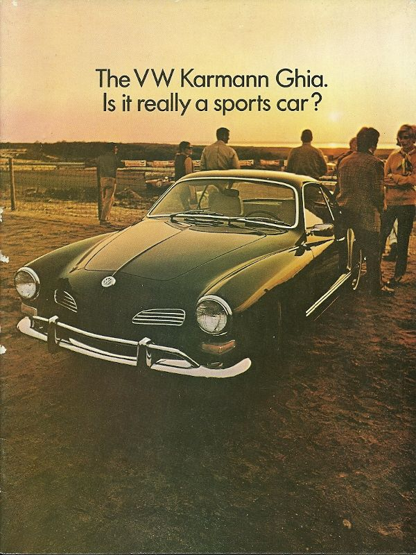 1969 VW Karmann Ghia brochure