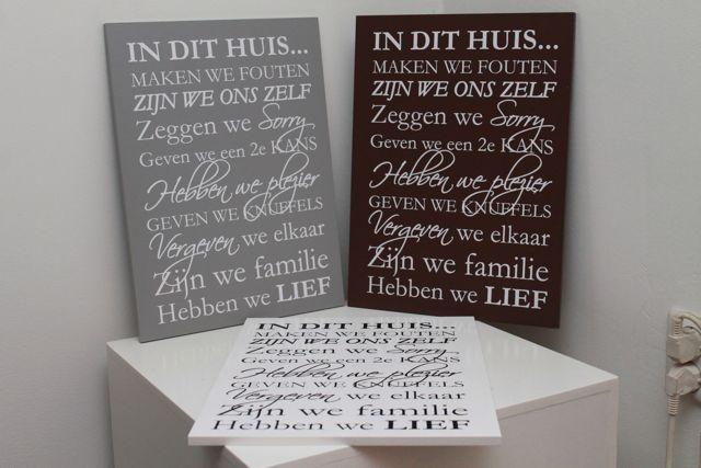 Restyle uw huis met een leuk tekstbord van sfeerhof.nl. In verschillende kleuren en maten leverbaar