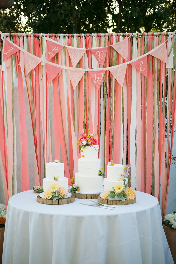 Coral Wedding at San Clemente Historic Beach Cottage  Read more - http://www.stylemepretty.com/california-weddings/san-clemente/2014/03/26/coral-wedding-at-san-clemente-historic-beach-cottage/