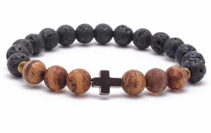 Bracelets – Bracelet mala stone lava agate hematite – a unique product by Blackif on DaWanda