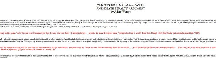 Rhetorical analysis-bias and anti-death penalty argument