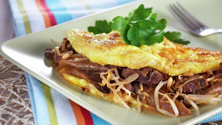 Asiatisk omelett - Sunn - Oppskrifter - MatPrat