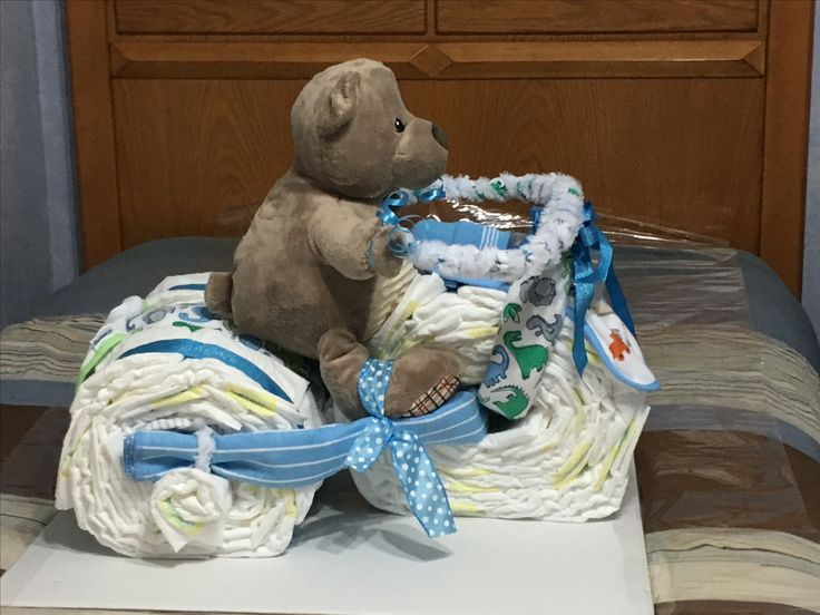Side picture of diaper tricycle